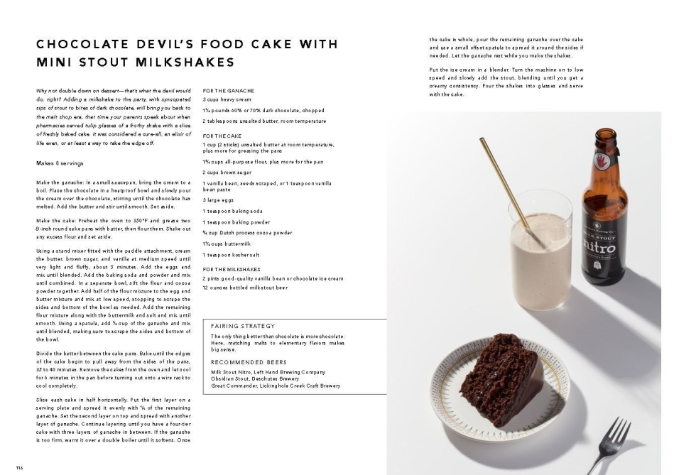 The Beer Pantry: Chocolate Devil's Food Cake with Mini Stout Milkshakes
