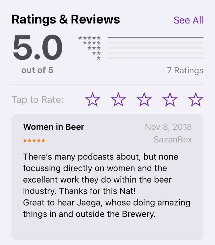 Beer with Nat Apple Podcast 5 stars