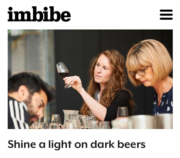Imbibe magazine dark beer tasting